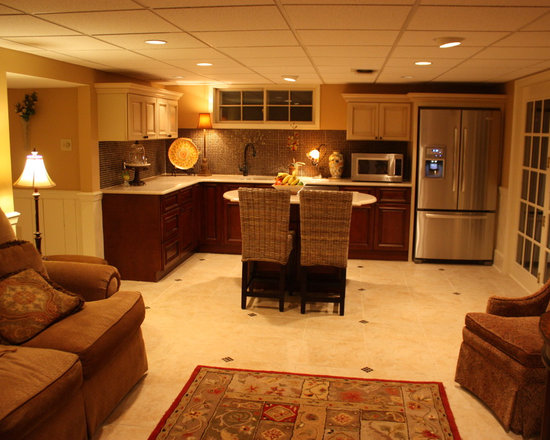 Basement kitchen home design ideas pictures remodel and for Basement design layouts
