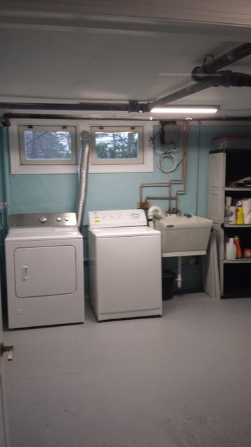 Basement Laundry Room Industrial Basement New York