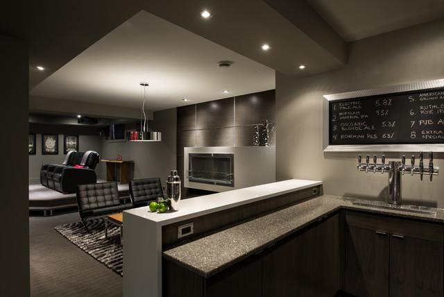 basement lounge and bar contemporary basement ottawa by just