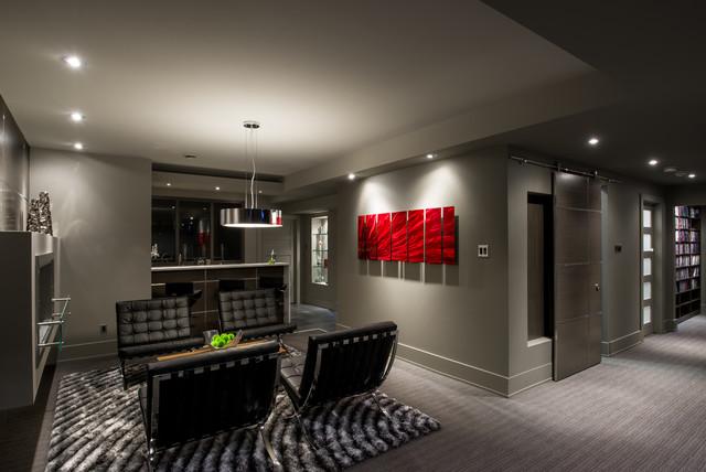 basement lounge and bar contemporary basement