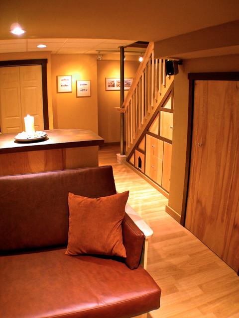 Basement Lounge contemporary-basement