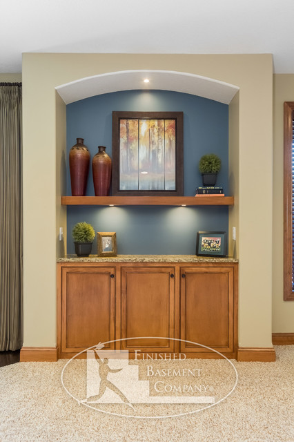Basement Niche, Cabinet & Shelf - Traditional - Basement - minneapolis - by Finished Basement ...