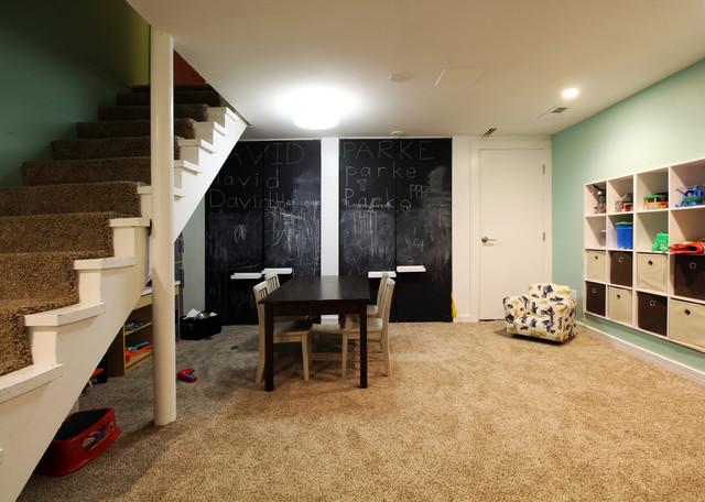 Modern Bat Playroom Home Design Ideas