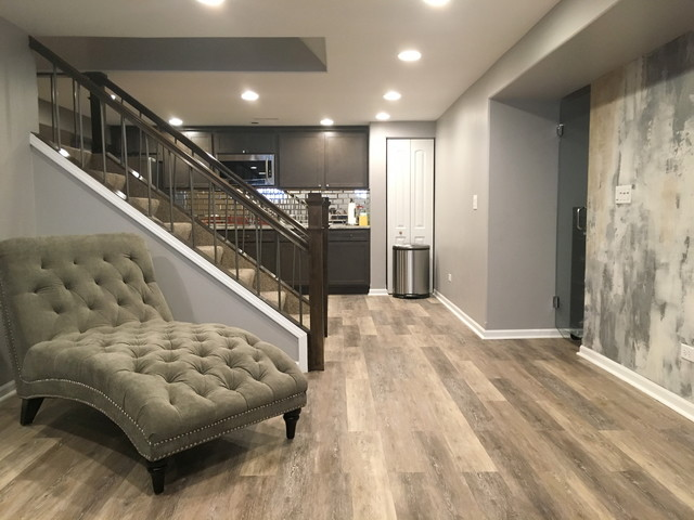 Basement Project Contemporary Basement Chicago By