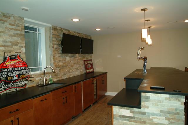 Basement, Prospect Heights contemporary-basement