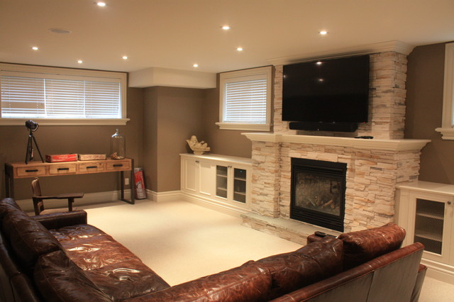 contemporary basement by Galle Construction Inc
