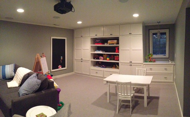 basement remodel adding more storage in a small space traditional