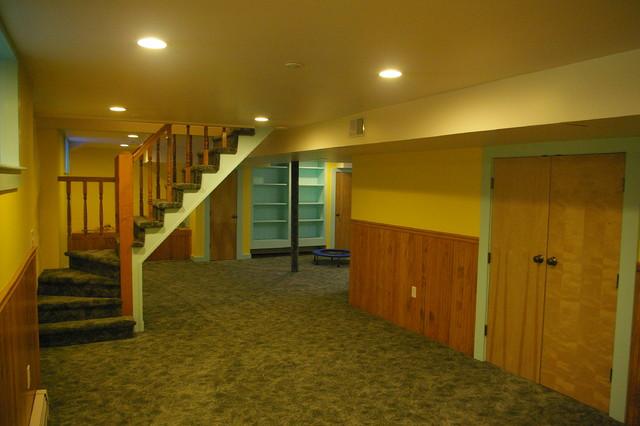 basement remodel brookline traditional basement