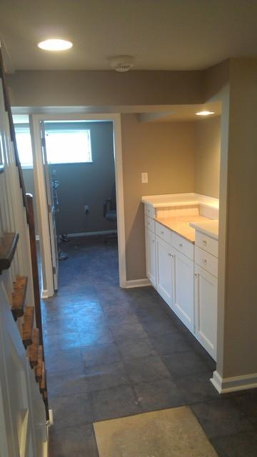 Basement remodel traditional-basement