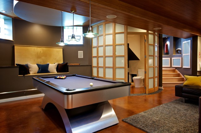 Basement remodel for Contemporary basement designs
