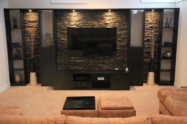 basement remodel - contemporary - basement