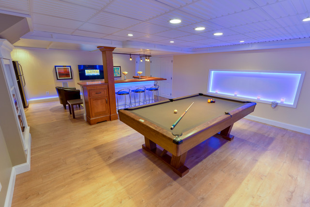 Basement Remodel LED Strip Lights - Traditional - Basement ...