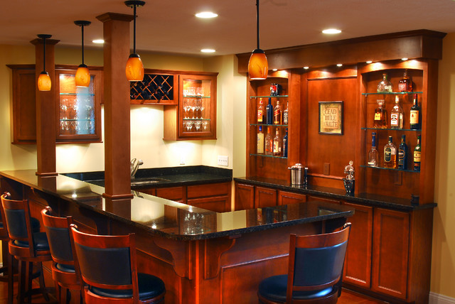 Basement Remodel Traditional Basement Cleveland By