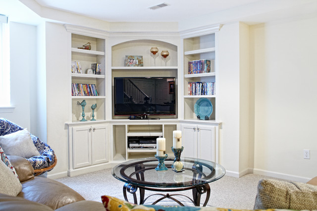 Basement Remodel with Kitchen & Exercise Room traditional-basement