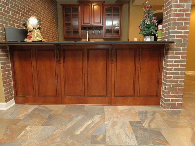Tile Basement Floor professional basement floor tiling Basement Remodel With New Bar And Ceramic Tile Floortraditional