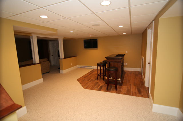 Basement Remodeling Project in Northborough, MA traditional-basement