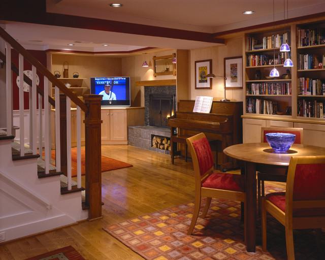 Basement renovation bedroom playroom bathroom laundry family room office contemporary - Playroom office ideas ...