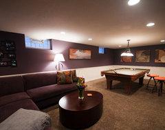 Basement Renovation contemporary-basement