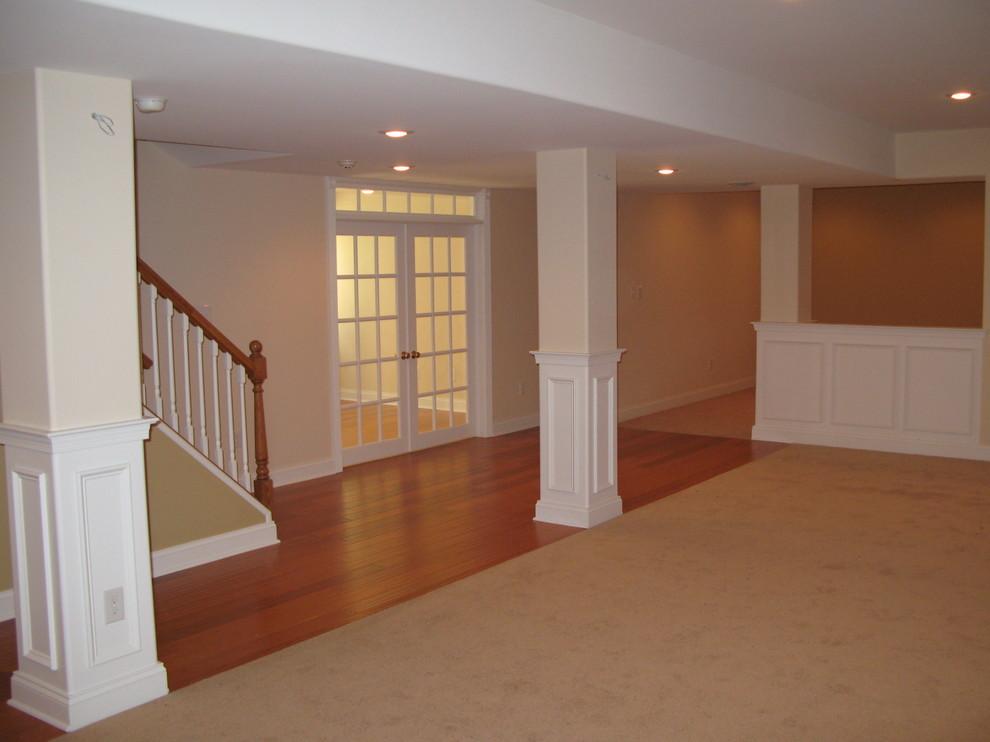 Elegant basement photo in Philadelphia