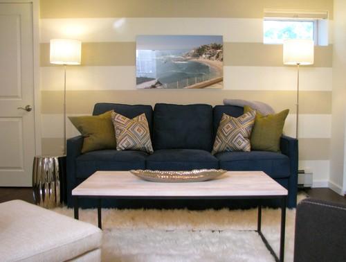 Transitional Basement by Ramsey Interior Designers & Decorators Michele Taylor Interiors LLC