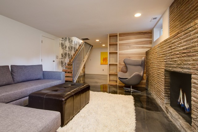 Basement Renovation Contemporary Basement Seattle By Sawhorse Design Amp Build
