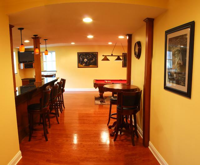 basement renovation traditional basement cleveland