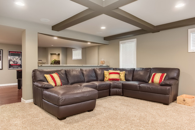 Basement Sectional Sofa Transitional