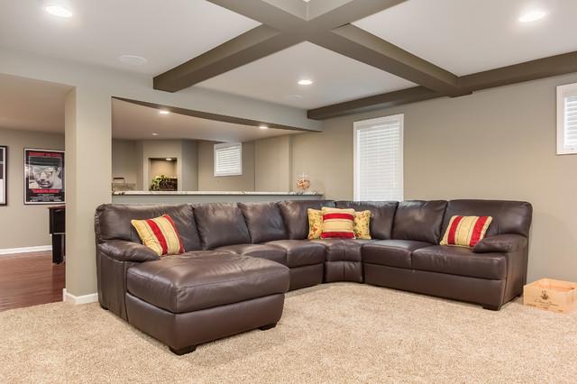 Basement Sectional Sofa Transitional Basement