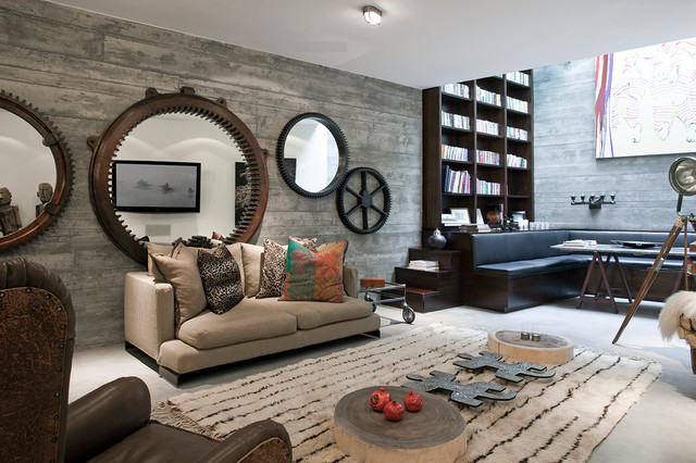 Basement contemporary-basement