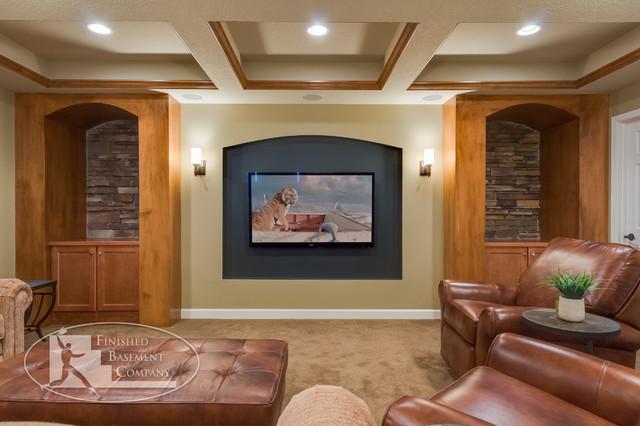 Basement Tv Wall Design. Basement Tv Wall Traditional Basement