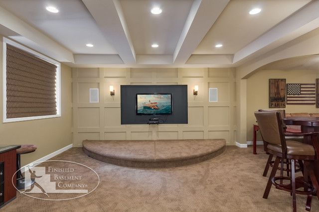 basement video game area traditional basement minneapolis by
