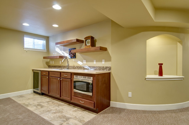 basement wet bar wall. Basement Walk Up Bar and Wall Niche traditional basement  Traditional