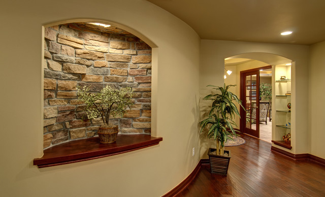 basement wall niche traditional basement