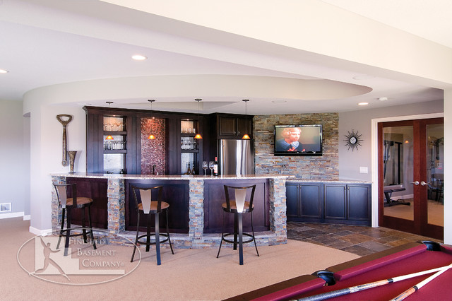 Basement Wet Bar Traditional Basement Minneapolis By Finished Basemen