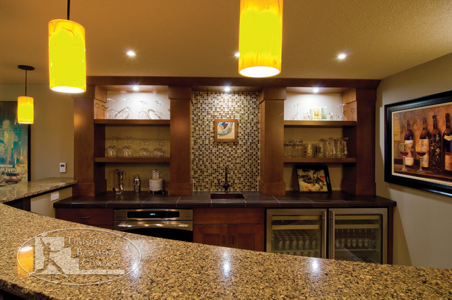 Finished Basement Bars Extraordinary Basement Wet Bar  Traditional  Basement  Minneapolis . Inspiration
