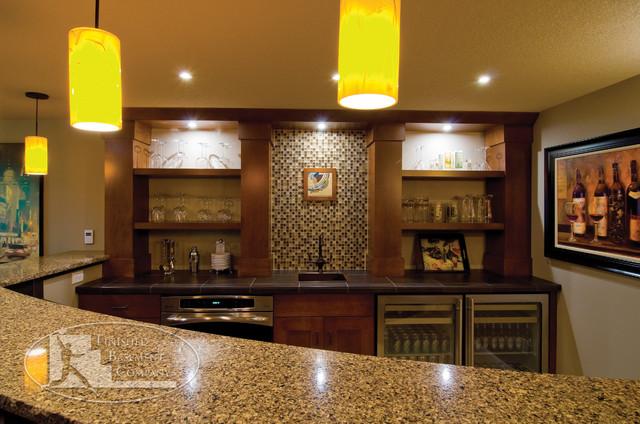 Basement Wet Bar Traditional Basement Minneapolis