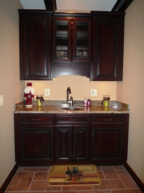 Basement wet bar traditional basement dc metro for Cost to build a bar in basement