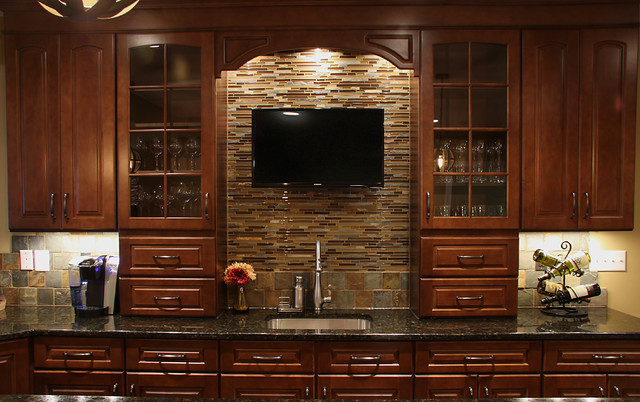 Basement wet bar traditional basement dc metro by nvs kitchen and bath - Wet bar basement ideas ...