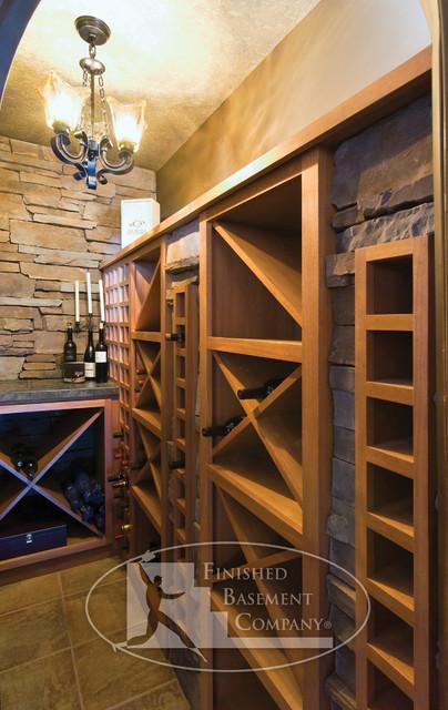 basement wine cellar racks traditional basement minneapolis by