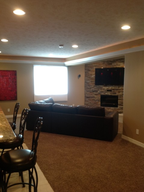 basement with amazing bar contemporary basement omaha by