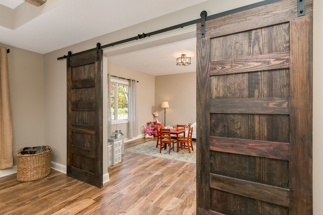basement wood barn doors rustic basement minneapolis by