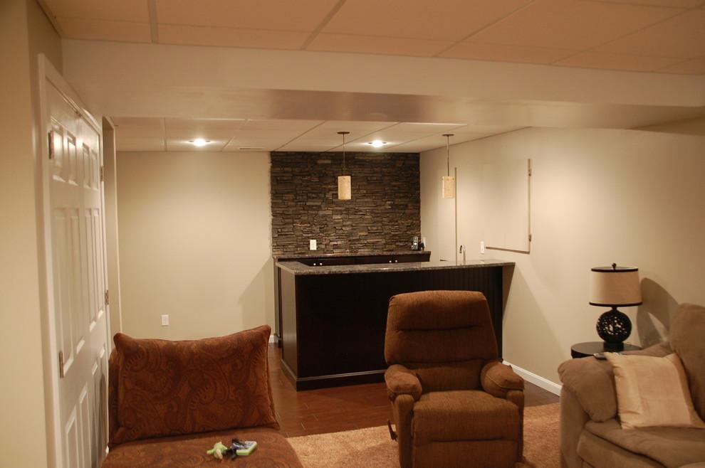 Elegant basement photo in Cincinnati