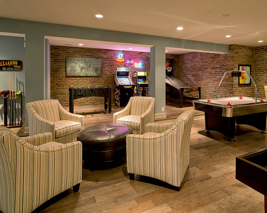 Game room basement design ideas pictures remodel and decor Basement game room ideas