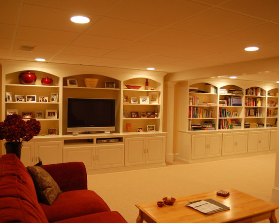 home office wall pinterest basements built ins and entertainment