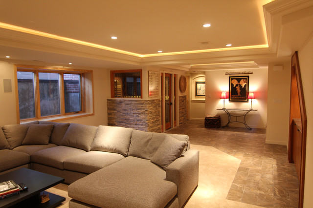 beautiful basement in denver traditional basement