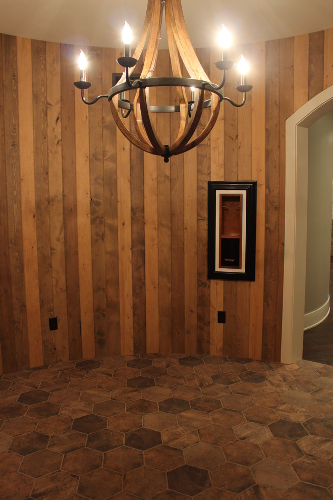 Inspiration for a large walk-out basement remodel in Salt Lake City with gray walls
