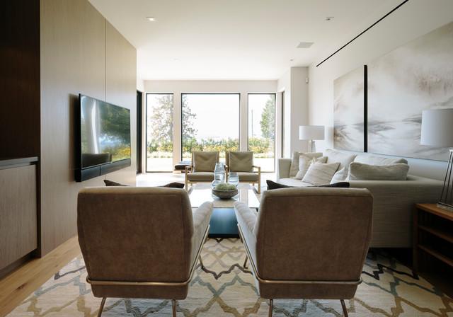 Bellevue Avenue Home contemporary-basement