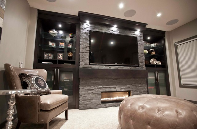 Bilick Basement Development - Contemporary - Basement - calgary - by Urban Abode