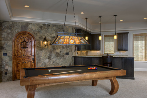 Billiards traditional media room