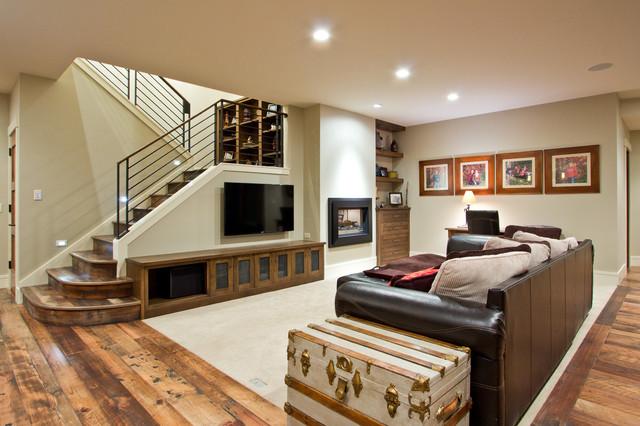 Blank Residence Craftsman Basement Denver By